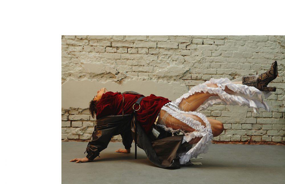 Coat & Belt / MMC Hoodie / Dramat Trousers / Kas Kryst Boots / OCHNIK