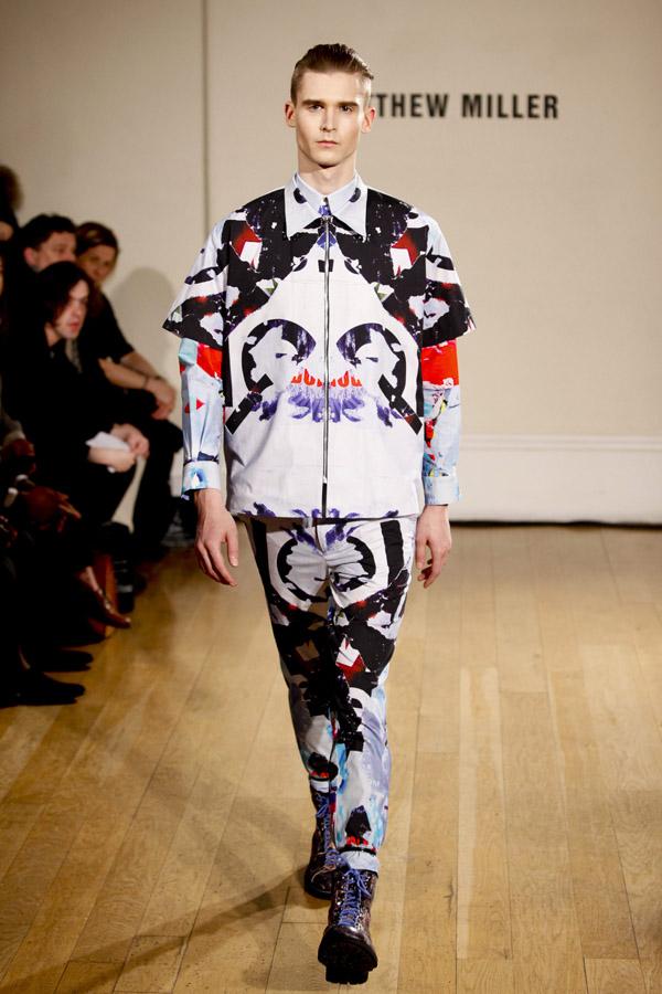 AW12 Matthew Miller at London Fashion Week, hair by TONI&GUY.