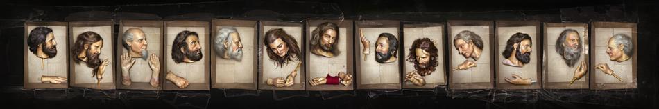 ©David LaChapelle, Courtesy Galerie Daniel Templon, Paris  David LaChapelle,The Last Supper, 2013, 25 x 150 in , 2013, 63, 5 X 381 cm