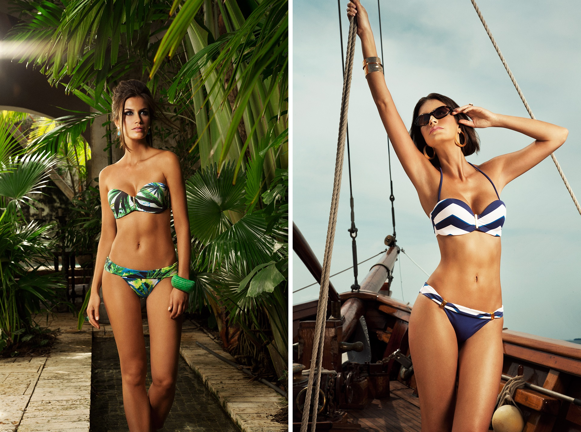 Left: Havana Strapless Right: Nantucket Chevron Strapless Images courtesy of Verano High