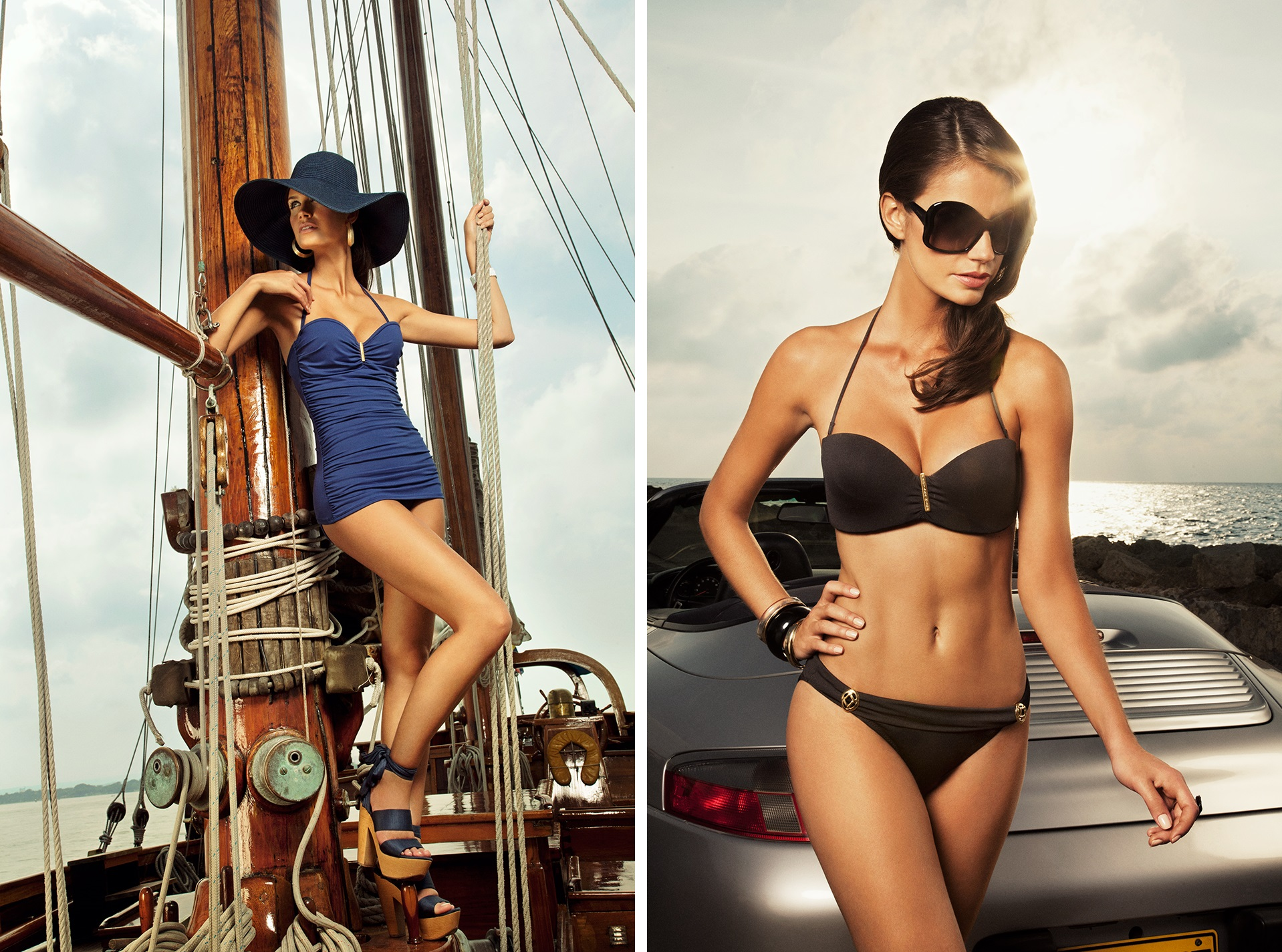Left: Nantucket Retro Maillot Right: Sobe Strapless Images courtesy of Verano High