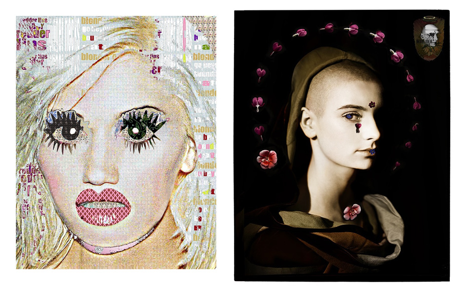 Left: Gwen Stefani /// Right: Sinead with Flowers Photo credit: Kate Garner