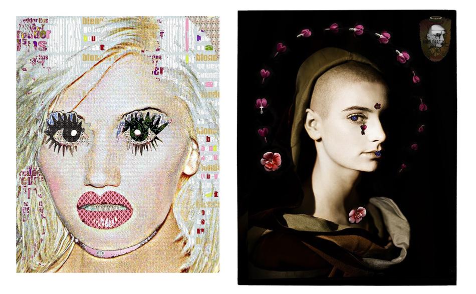 Left: Gwen Stefani /// Right: Sinead with Flowers   Photo credit: Kate Garner