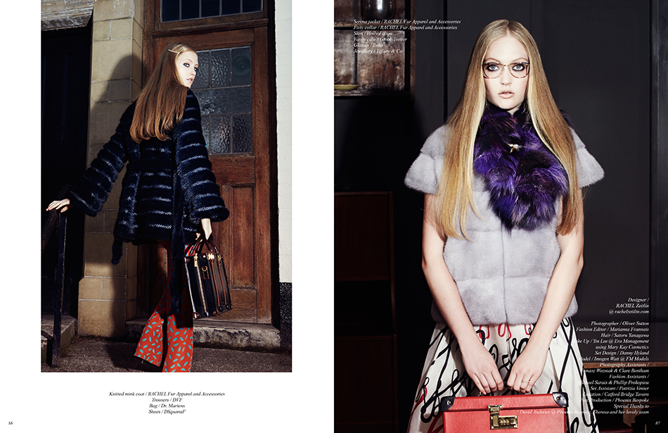 Designer / Rachel Zeitlin Photographer / Oliver Sutton Fashion Editor / Marianna Frannais