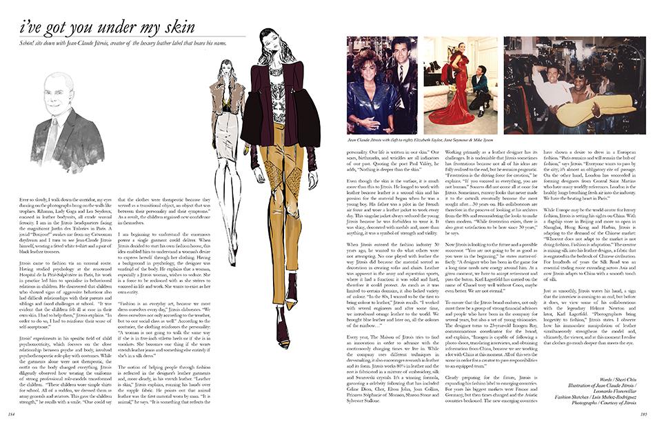 Words / Sheri Chiu Illustration of Jean Claude Jitrois / Leonardo Floresvillar Fashion Sketches / Luis Muñoz-Rodriguez Photographs / Courtesy of Jitrois