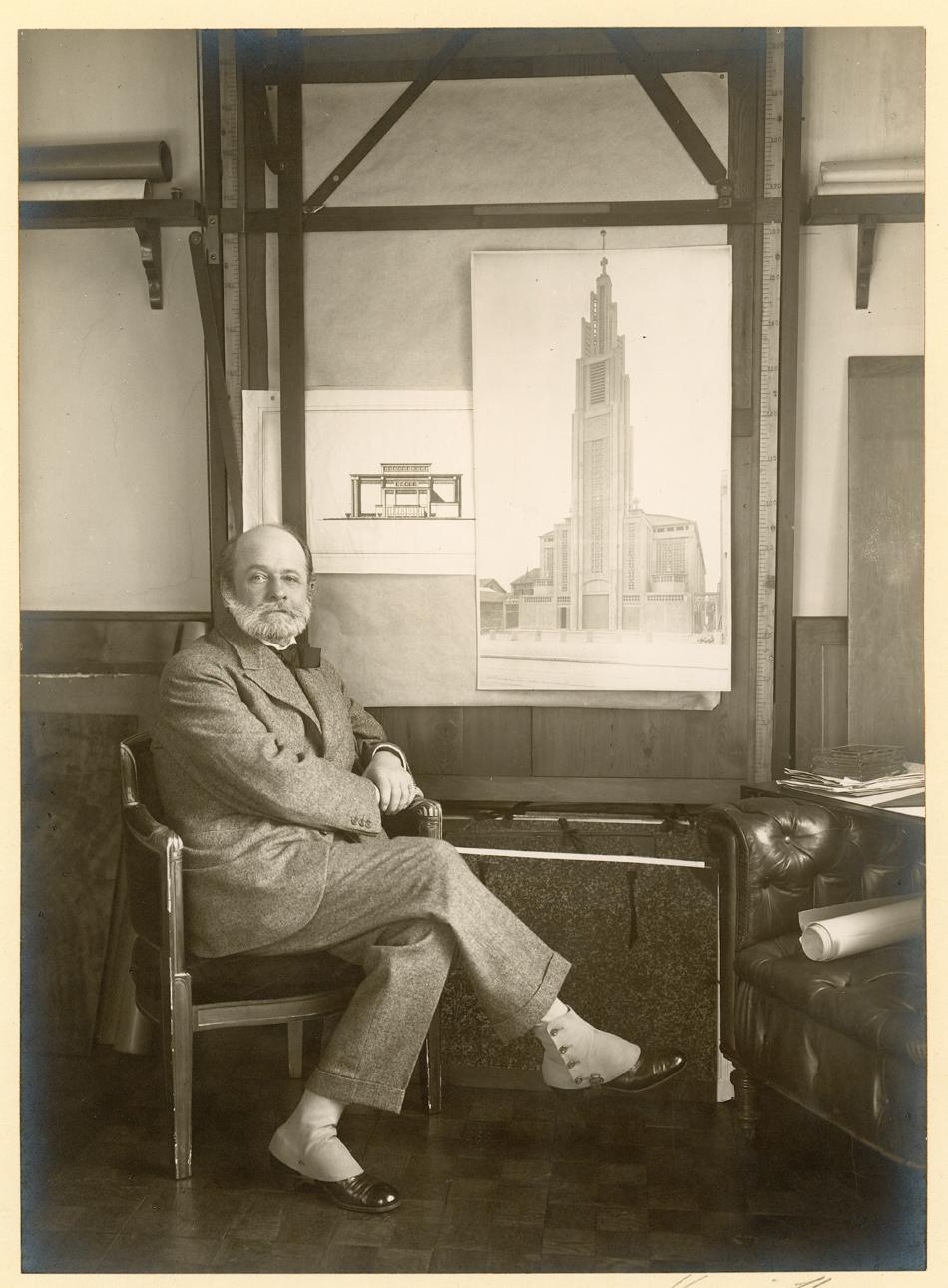 Auguste Perret, 1925 Photography © CNAM/SIAF/CAPA, Archives d'architecture du XXe siècle/Auguste Perret/UFSE/SAIF