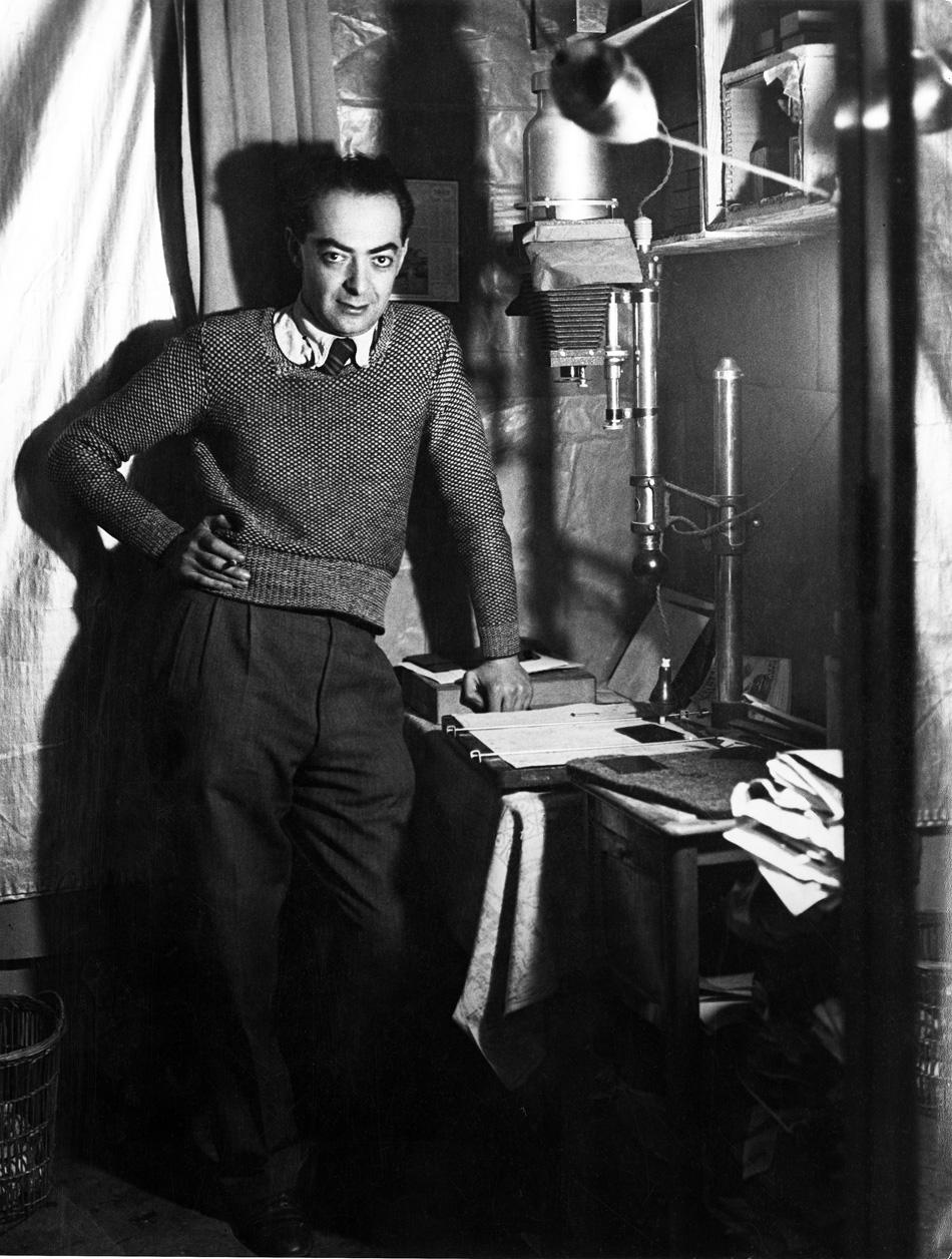 Brassaï in his studio, ca 1932.