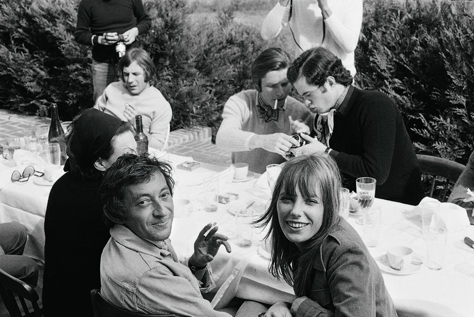 Serge Gainsbourg, Jane Birkin and friends, 1969.