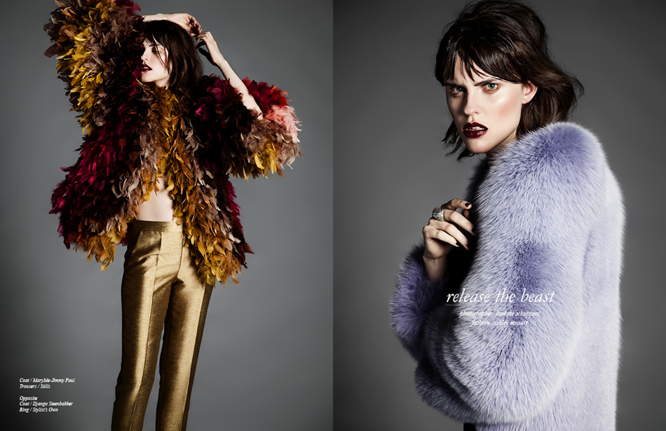 Left Coat / MaryMe-Jimmy Paul Trousers / Stills Right Coat / Django Steenbakker Ring / Stylist's Own