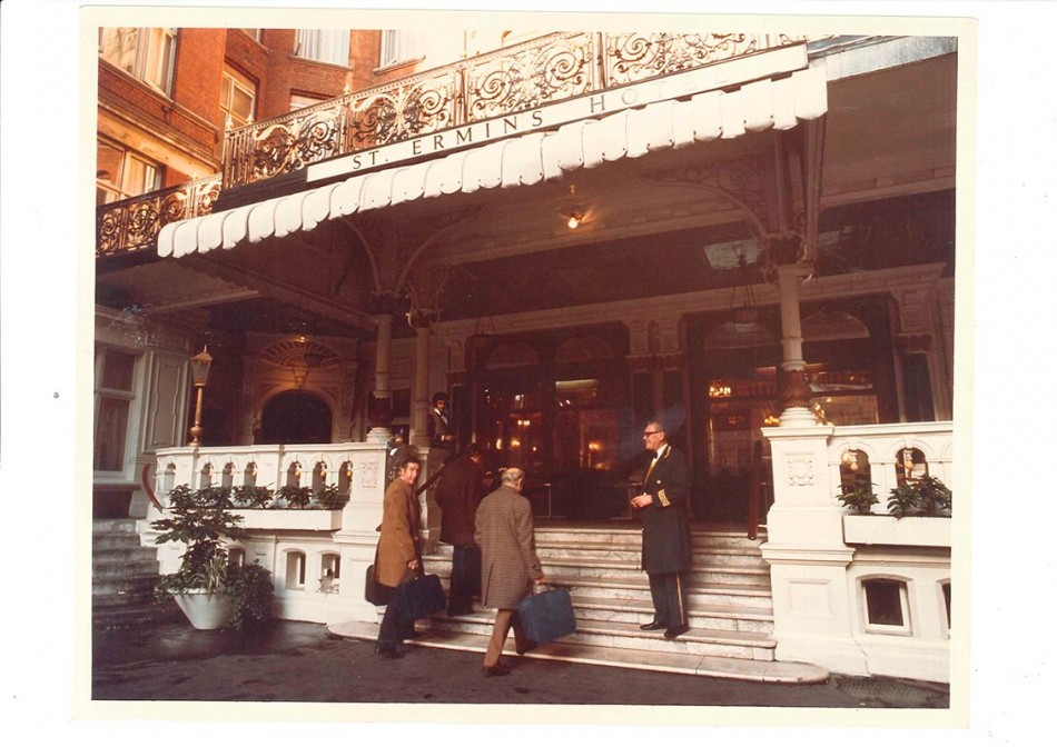 St Ermin's Hotel Entrance 1969