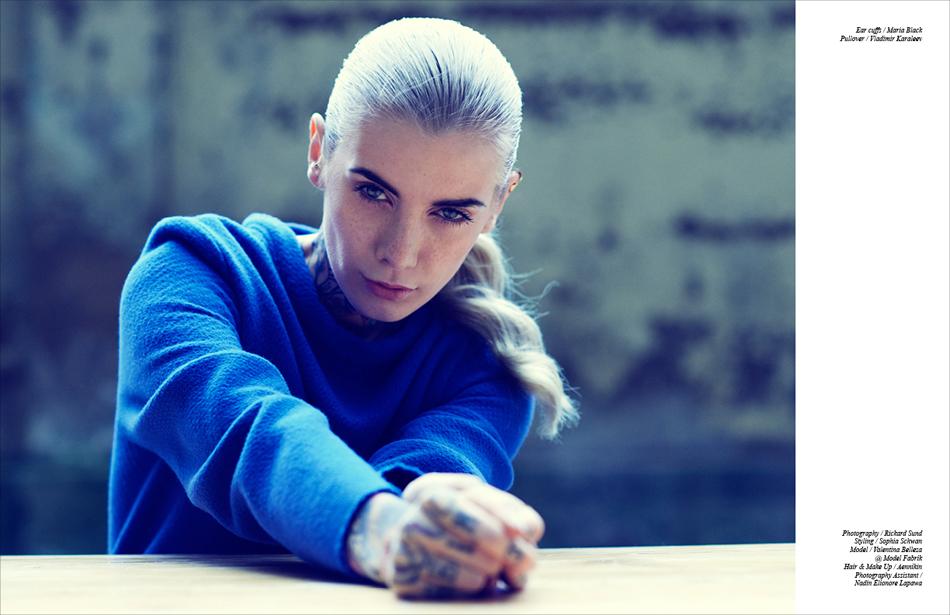 Ear cuffs / Maria Black Pullover / Vladimir Karaleev