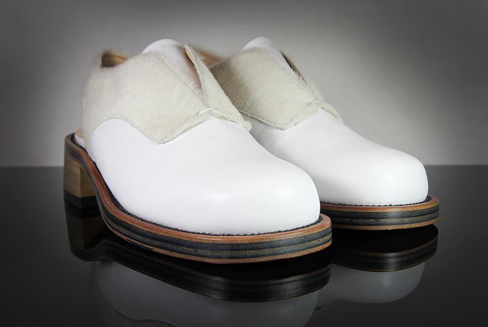 KD Syreni Shoe White Pony & Calf Leather