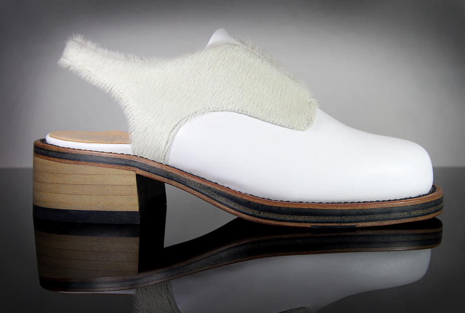 KD Syreni Shoe White Pony & Calf Leather (Buy online at LN-CC)