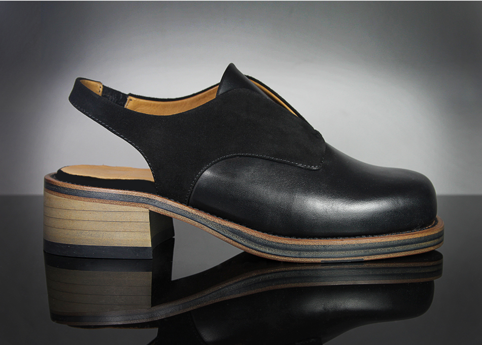 KD Syreni Shoe Black Suede & Calf Leather (Contact info@kultdomini.com for stockists)