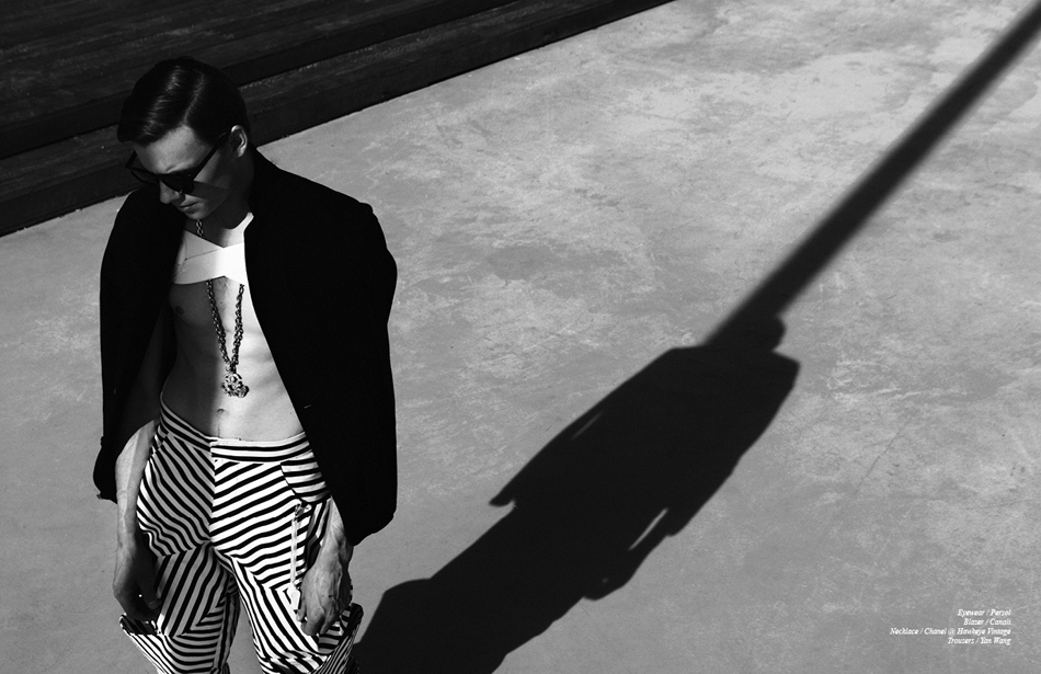 Eyewear / Persol Blazer / Canali Necklace / Chanel @ Hawkeye Vintage Trousers / Yan Wang