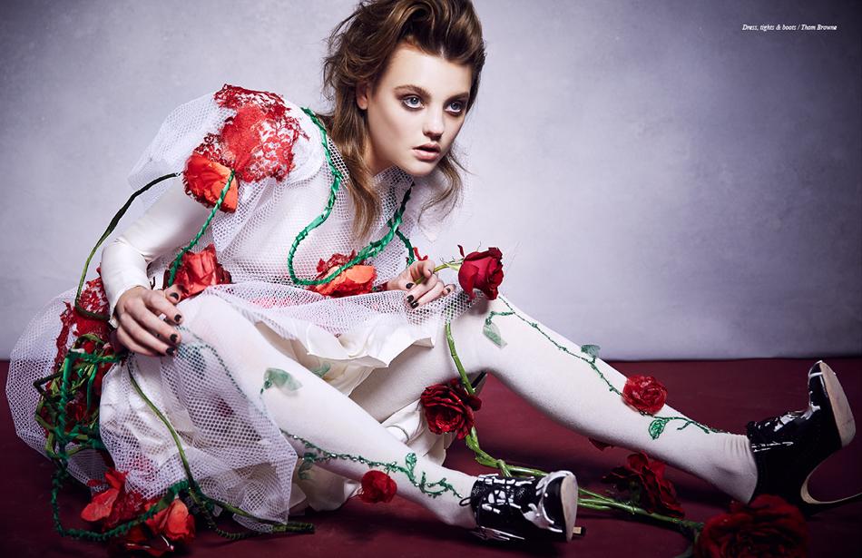 Dress, tights & boots / Thom Browne