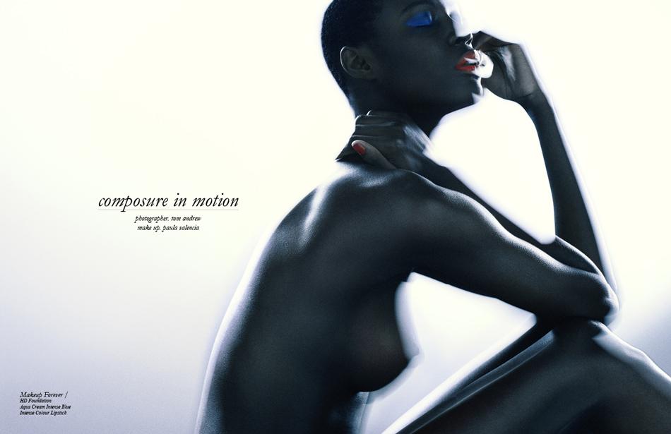 Photographer / Tom Andrew Make up / Paula Valencia Makeup Forever / HD Foundation Aqua Cream Intense Blue Intense Colour Lipstick