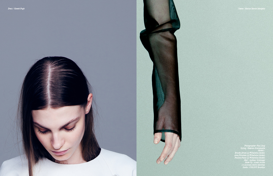 Left Dress / Gareth Pugh Right Sleeve / Maison Martin Margiela
