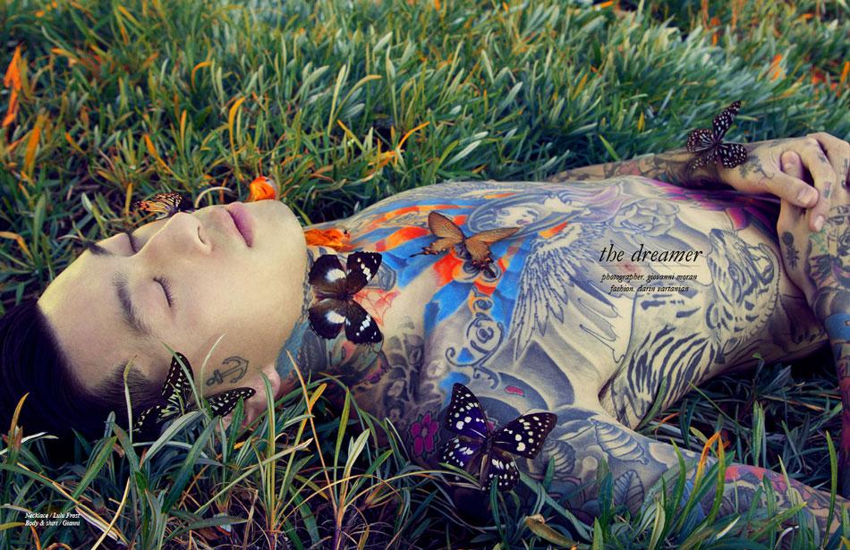 Photographer / Giovanni Moran Fashion / Darin Vartanian Necklace / Lulu Frost Body & shirt / Gianni