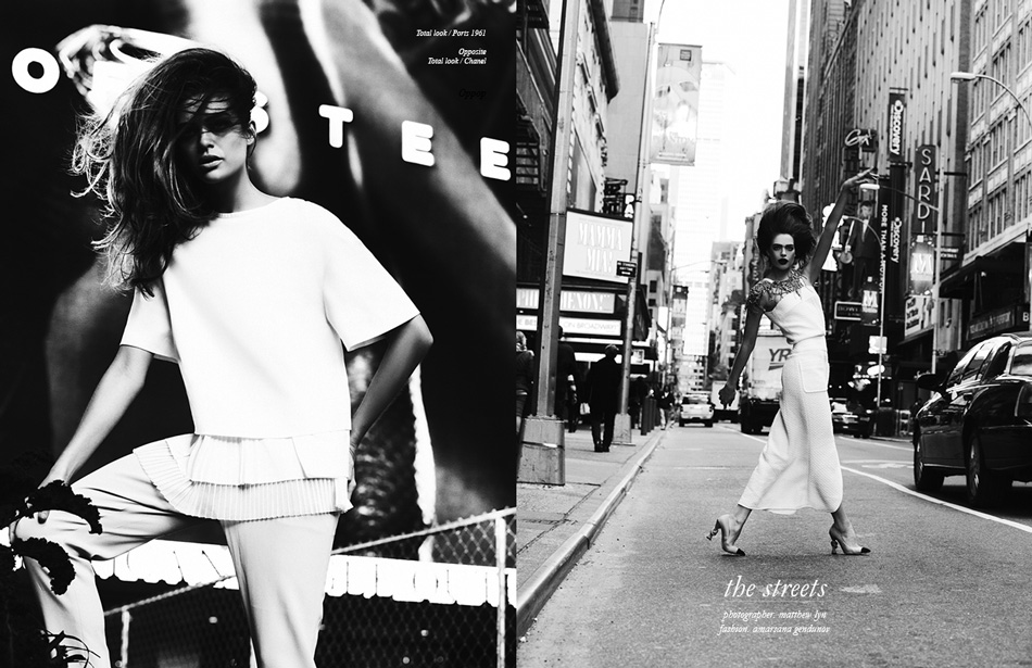 Photographer / Matthew Lyn Fashion / Amarsana Gendunov Left/ Total look / Ports 1961 Right/ Total look / Chanel