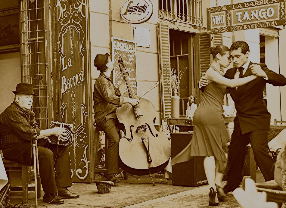 The Tango originated in Buenos Aires/