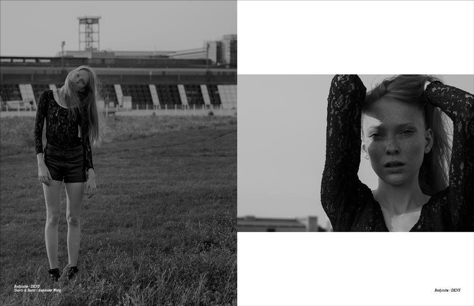 Bodysuite / DKNY Shorts & Boots / Alexander Wang
