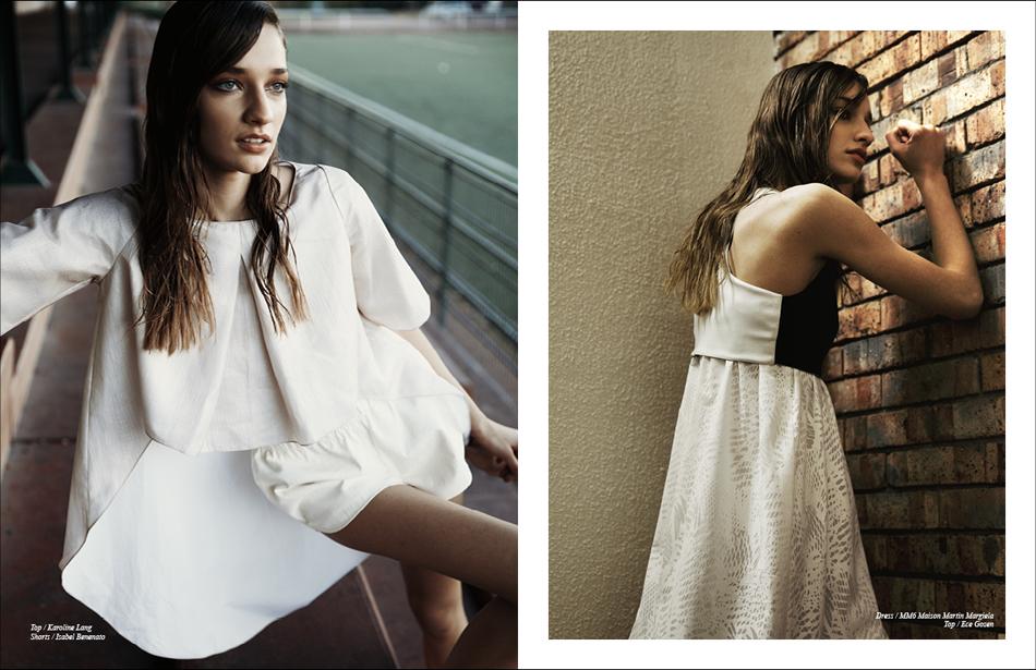 Left Top / Karoline Lang Shorts / Isabel Benenato Right Dress / MM6 Maison Martin Margiela Top / Ece Gozen