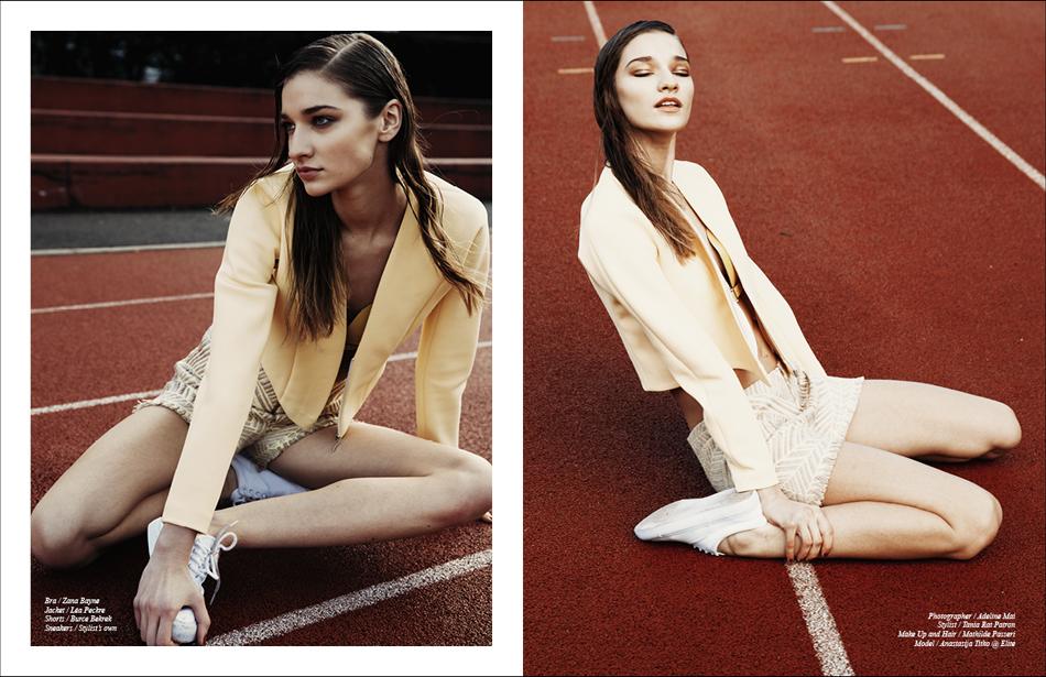 Bra / Zana Bayne Jacket / Léa Peckre Shorts / Burce Bekrek Sneakers / Stylist's own