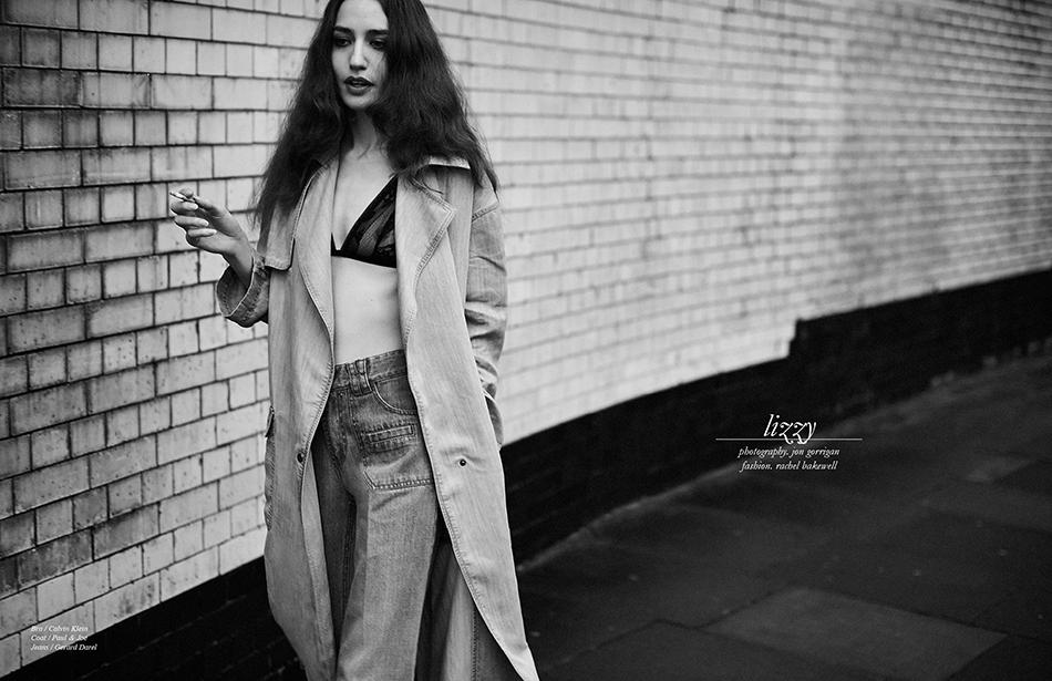 Bra / Calvin Klein Coat / Paul & Joe Jeans / Gerard Darel