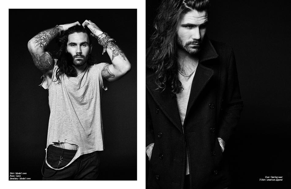 Left/ Shirt / Model's own Pants / Levis Jewellery / Model's own Right/ Coat / Sterling wear T-Shirt / American Apparel