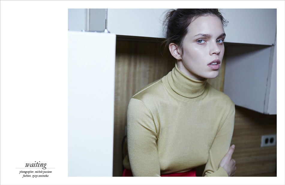 Photographer / Michele Pescione Fashion / Zuza Sowinska Skirt / Lafayette Turtleneck / Maison Martin Margiela
