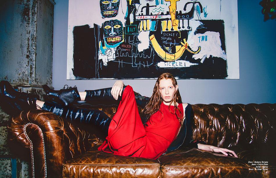 Dress / Roberto Torretta Jeans / Calvin Klein Jacket / Replay Boots / & Other Stories