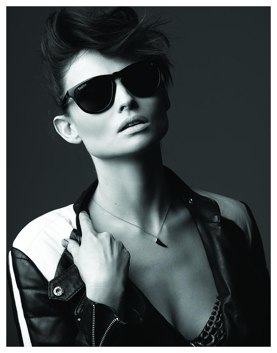 Sunglasses / Adidas Eyewear #adidaseyewear @ adidas.com/eyewear Jacket / Designers Remix Bra / Nympha Chain / Jennifer Zeuner