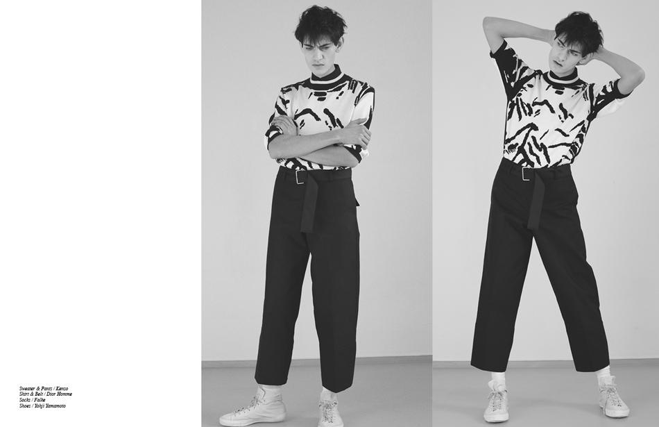 Sweater & Pants / Kenzo Shirt & Belt / Dior Homme Socks / Falke Shoes / Yohji Yamamoto