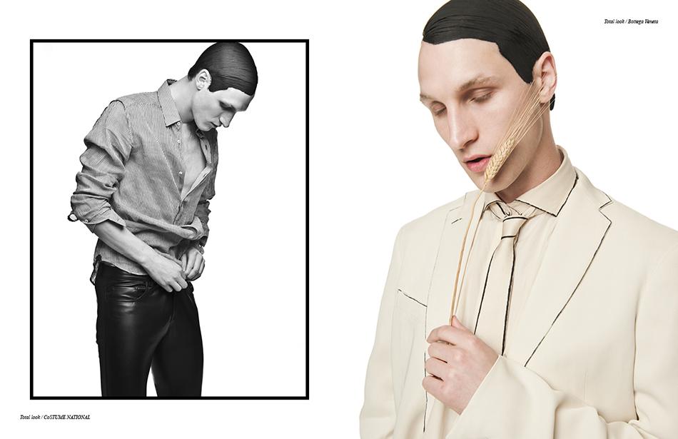 Left Total look / CoSTume NaTioNaL Right Total look / Bottega Veneta