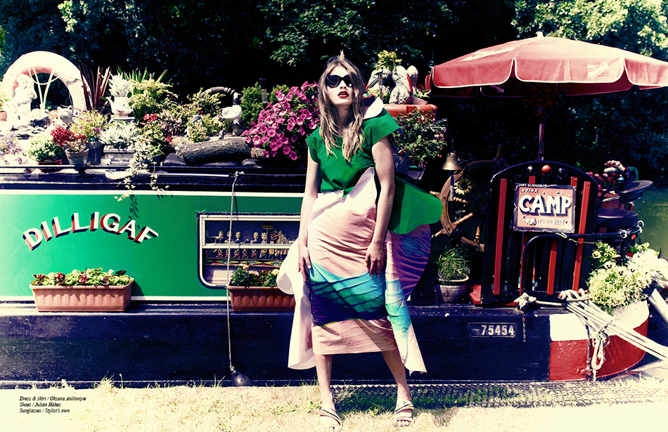 Dress & skirt / Oksana Anilionyte  Shoes / Julian Hakes Sunglasses / Stylist's own