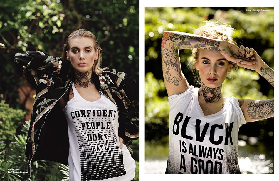 Left Blazer / ASOS Vest / LikeLife Streetwear Right T-shirt / Like Life Streetware