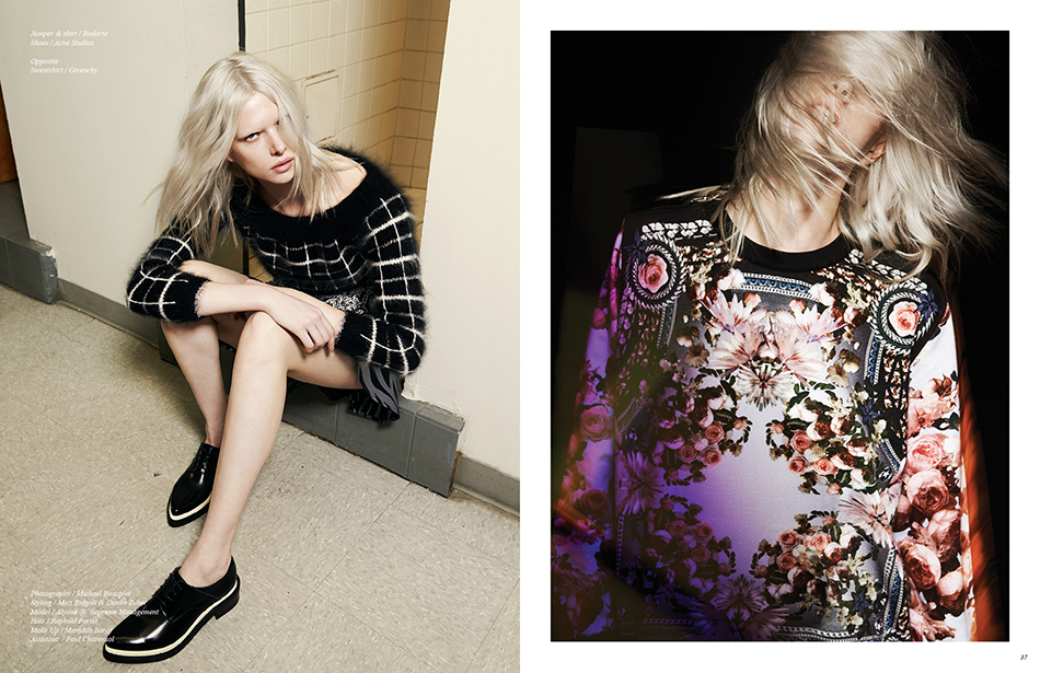 Jumper & skirt / Rodarte Shoes / Acne Studios Right Sweatshirt / Givenchy