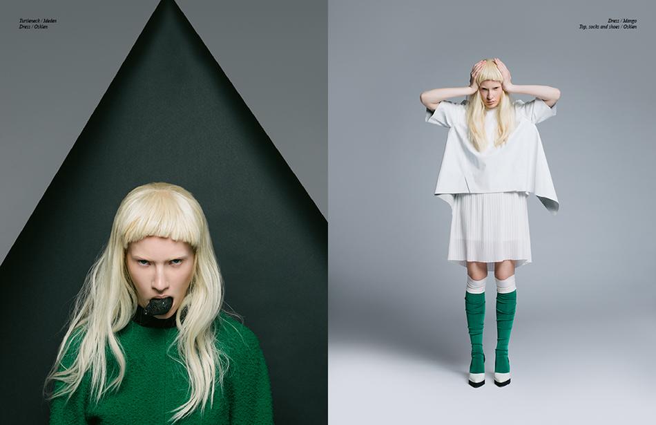Left Turtleneck / Meden  Dress / Osklen Right Dress / Mango Top, socks and shoes / Osklen