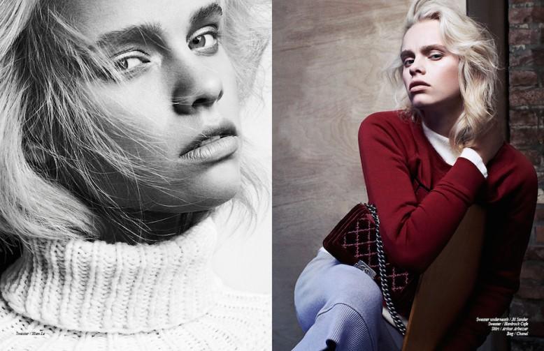 Left Sweater / Hien Le Right Sweater underneath / Jil Sander  Sweater / Hardrock Cafe Skirt / Arthur Arbesser