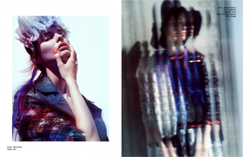 Left Crown / Yen-Ni Lam  Jacket / Asos Right Dress / Adidas Originals Skirt / Supertrash  Sweatshirt / Zara  Jacket / Elisabetta Franchi  Hat / Vintage