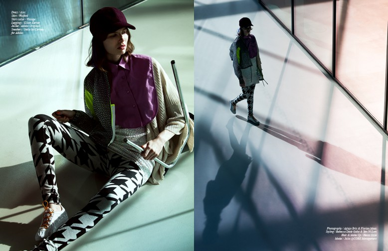 Dress / Asos Skirt / Wolford Shirt collar / Vintage Leggings / Kilian Kerner Jacket / Adidas Originals Sneakers / Stella McCartney for Adidas