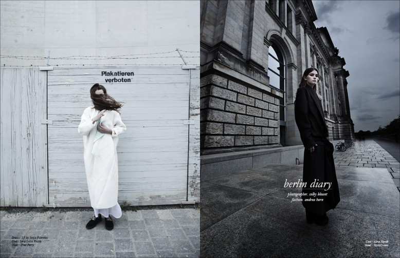 Left Dress / .S.f. by Sonja Fabritius  Coat / Lena Luisa Voutta  Shoes / Fred Perry Right Coat / Alina Novak  Shoes / Stylist's own