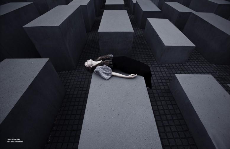Dress / Black Soma  Vest / Anna Freudenthal