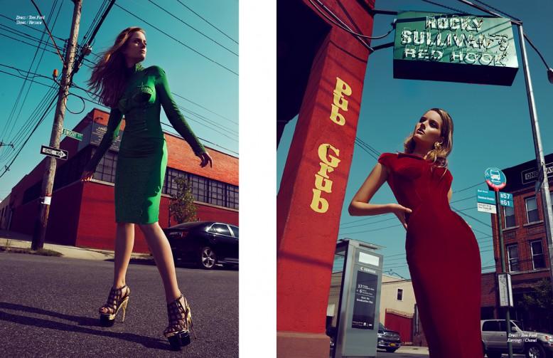 Dress / Tom Ford  Shoes / Versace Opposite Dress / Tom Ford Earrings / Chanel