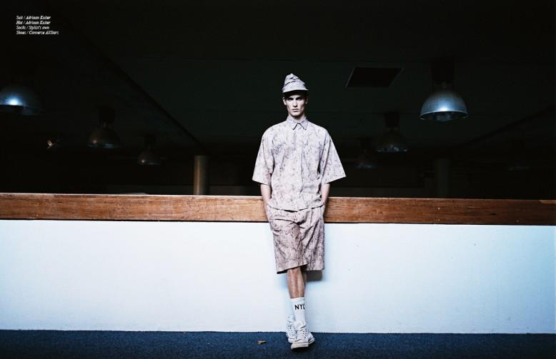 Suit / Adriaan Kuiter Hat / Adriaan Kuiter Socks / Stylist's own Shoes / Converse AllStars
