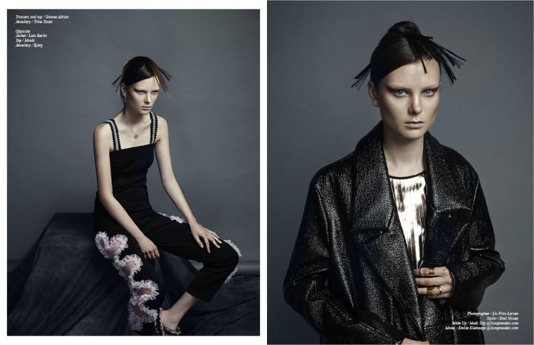 Left Trousers and top / Simone Adrian  Jewellery / Trine Tuxen Right Jacket / Lala Berlin  Top / Monki  Jewellery / Björg