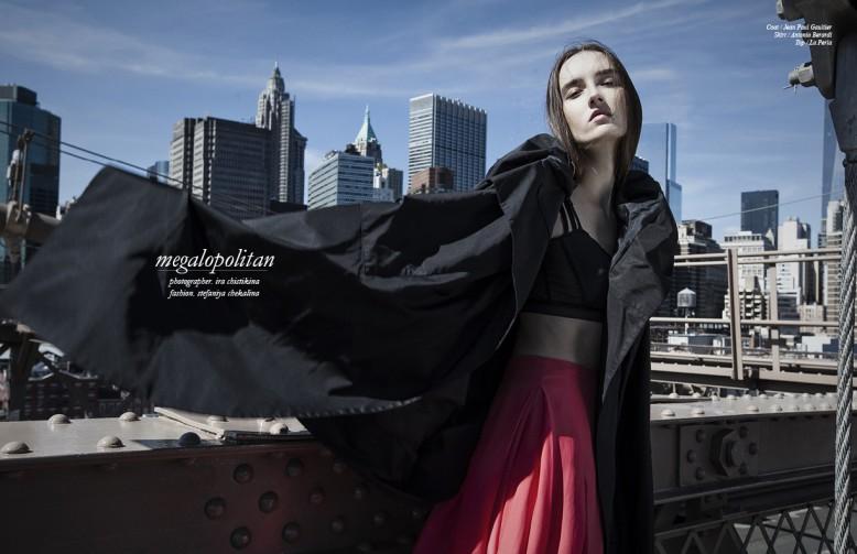 Coat / Jean Paul Gaultier  Skirt / Antonio Berardi  Top / La Perla
