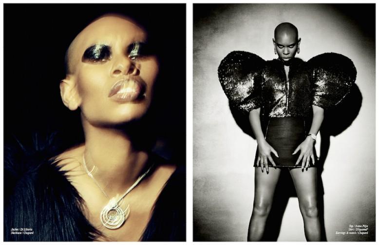 Jacket / Di Liborio Necklace / Chopard Opposite Top / Ivana Pilja Skirt / DSquared2 Earrings & watch / Chopard