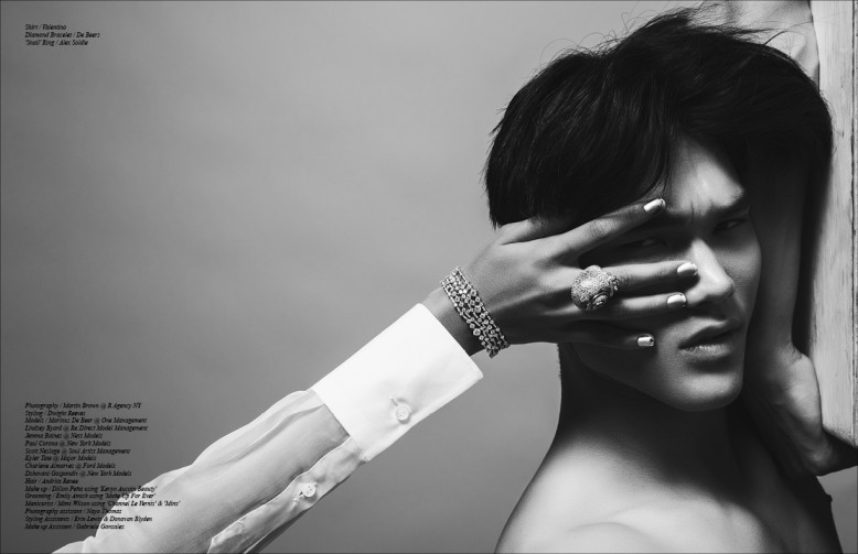 Skirt / Valentino Diamond Bracelet / De Beers 'Snail' Ring / Alex Soldie